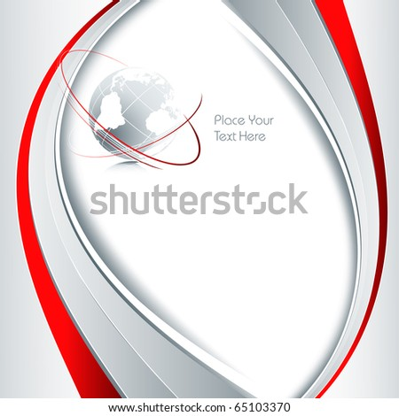 abstract vector background with copy space - stock vector