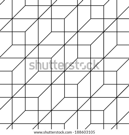 Abstract vector background with cubes - stock vector