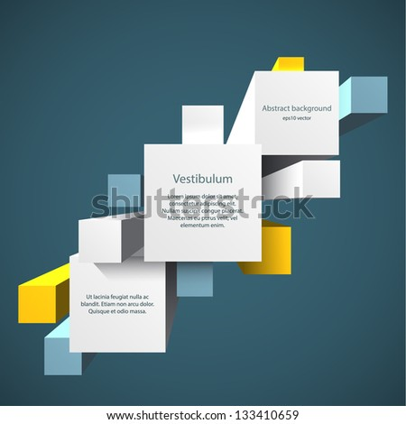 Abstract vector background with 3d cubes. EPS10 vector.