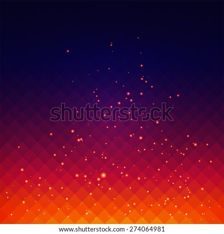 Abstract vector background with fire sparks effect - stock vector