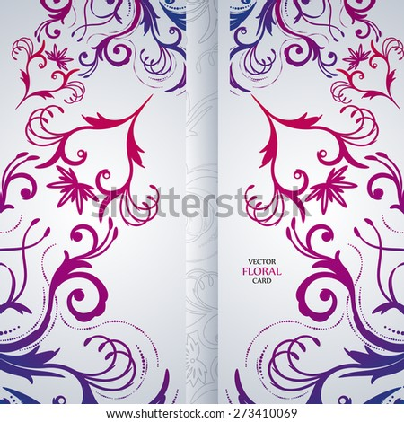 Abstract vector background with floral item. - stock vector