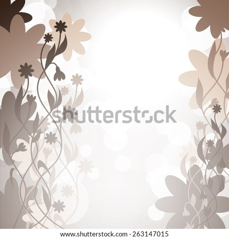 Abstract Vector Background with Flowers.  - stock vector