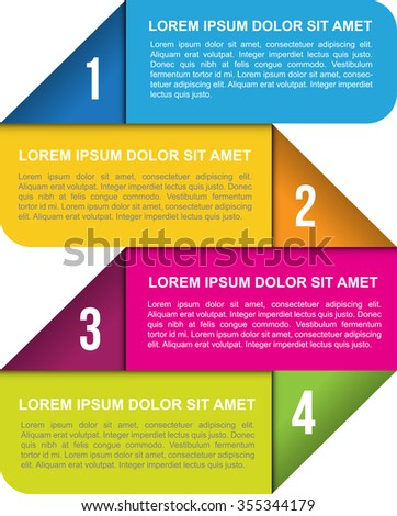 Abstract vector background with four numbered places for text - stock vector