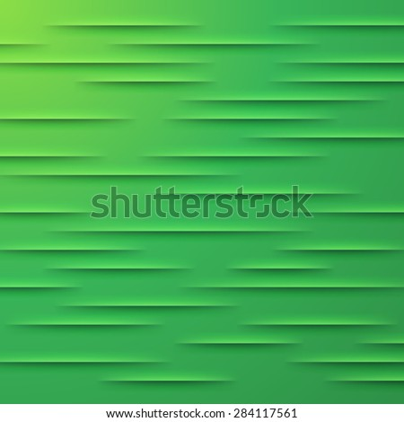 Abstract vector background with green cut paper layers - stock vector