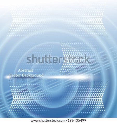 Abstract vector background with halftone and water effect - stock vector