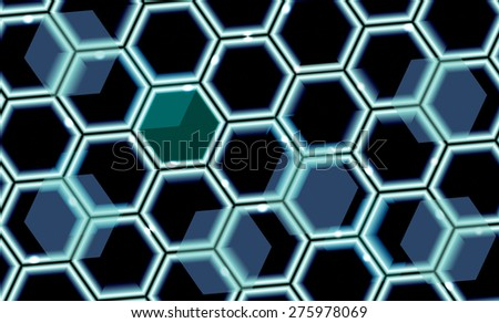 Abstract vector background with hexagon pattern. - stock vector