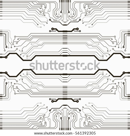 Abstract vector background with high tech circuit board. Microchip background. EPS10 vector