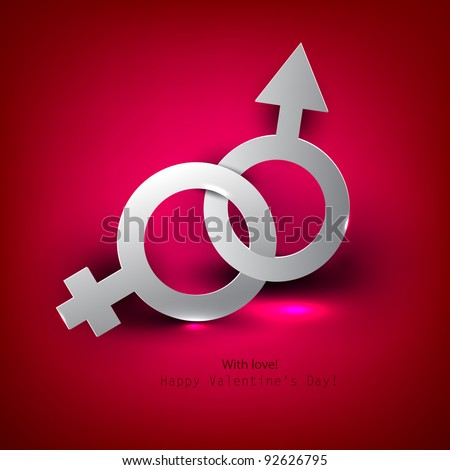 Abstract vector background with male female symbol - stock vector