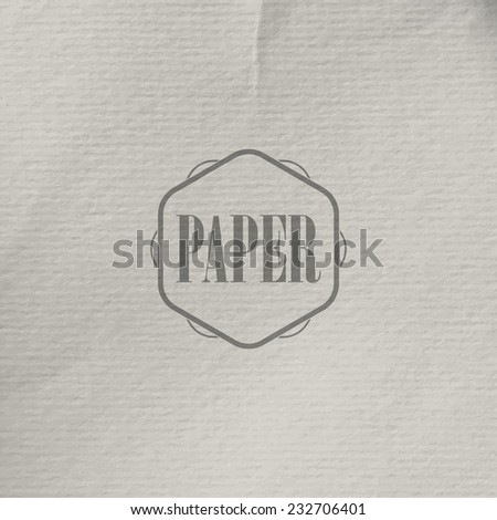 abstract vector background with old crumpled paper texture - stock vector