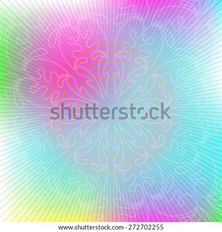 Abstract vector background with ornaments. - stock vector