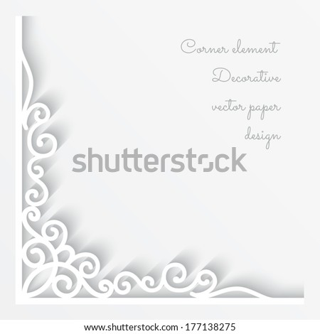 Abstract vector background with paper corner ornament, eps10 - stock vector