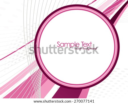 Abstract Vector Background with Pink Elements. - stock vector