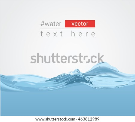 Abstract vector background with pure water waves, eps10