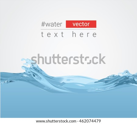 Abstract vector background with the waves of water, eps10
