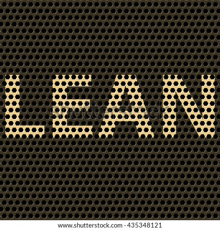 Abstract vector background with title Lean. Lean as modern program of productivity usually used in manufacturing. Polygonal background pattern.