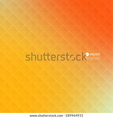 Abstract vector background with triangles and pattern of geometric shapes. for advertising, classified ads, layouts, web, internet, website, cover, booklet, magazine, banner. yellow, red, orange - stock vector
