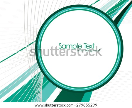 Abstract Vector Background with Turquoise Elements.