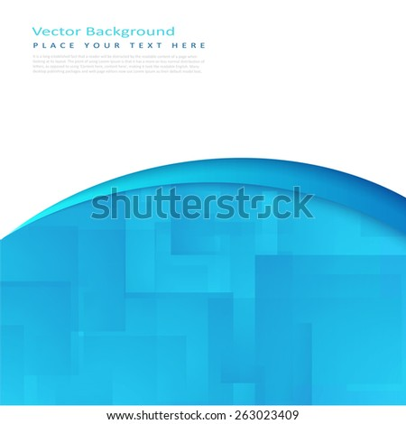Abstract vector background with white and turquoise transparent rectangles