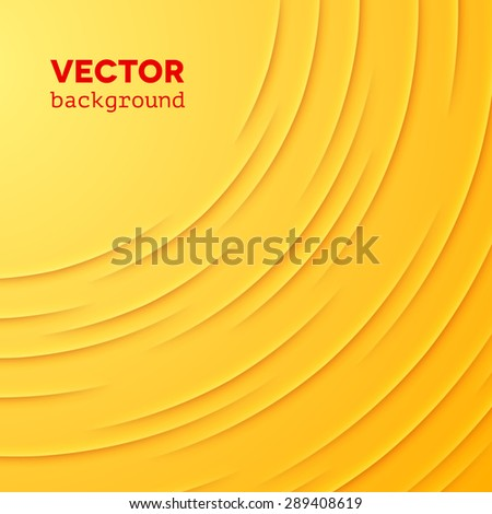 Abstract vector background with yellow cut paper layers - stock vector