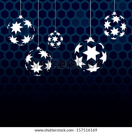 Abstract vector balls with stars - stock vector
