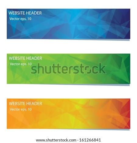 Abstract vector banner  - stock vector
