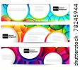 Abstract vector banner with forms of empty frames. - stock vector