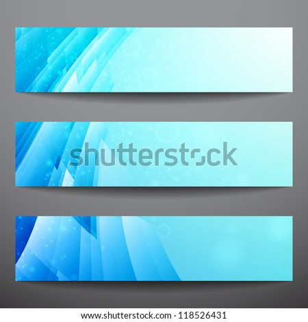 Abstract vector banners. Business banner. Banner background. Web banner. Music banner. Business card. Party banner. Bright background. Blue background. Technology background - stock vector