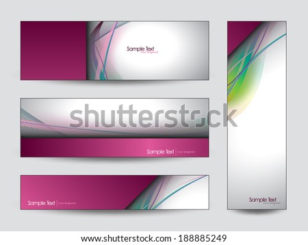 Abstract Vector Banners. Eps10 Backgrounds. - stock vector