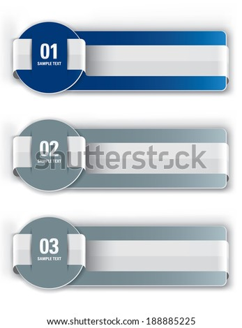 Abstract Vector Banners. Eps10 Backgrounds with Ribbons.