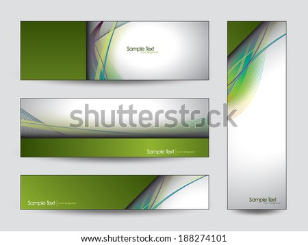 Abstract Vector Banners or Bookmarks. Eps10. - stock vector
