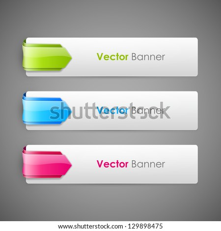 Abstract vector banners set - stock vector