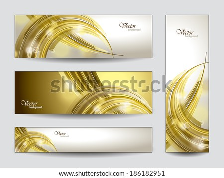 Abstract Vector Banners Set. - stock vector