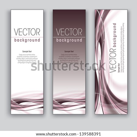 Abstract Vector Banners. Set of Three. - stock vector