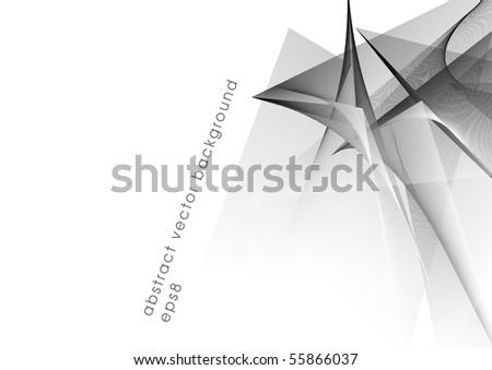 Abstract vector black background element (eps8) - stock vector