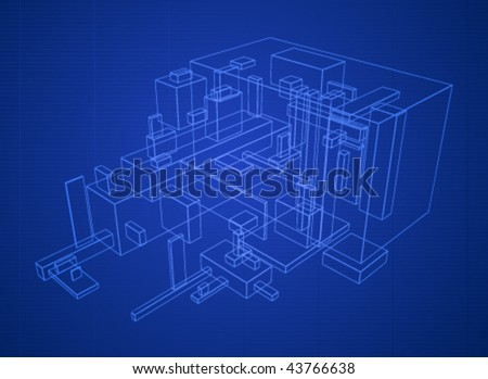 Abstract vector box build structure blueprint stock vector 43766638 abstract vector box build structure blueprint design malvernweather Images