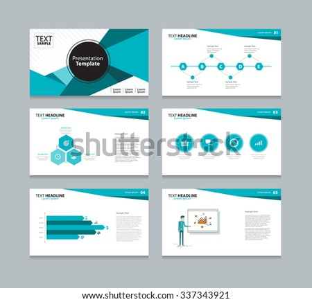 Abstract Business Presentation Template Slides Background Stock