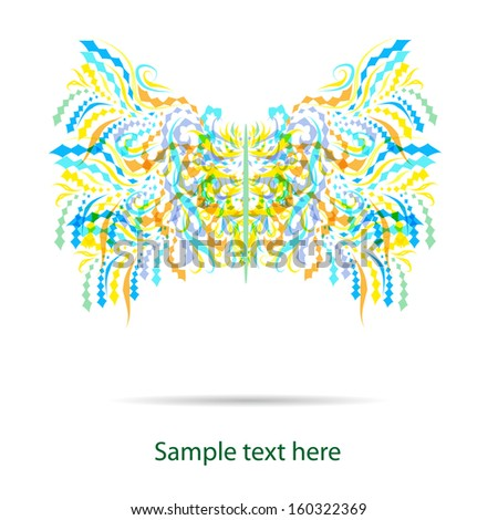 abstract vector butterfly eps10 - stock vector