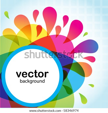 Abstract vector card - stock vector