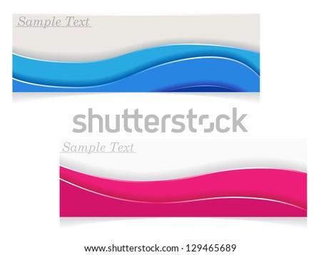 abstract vector cards - stock vector