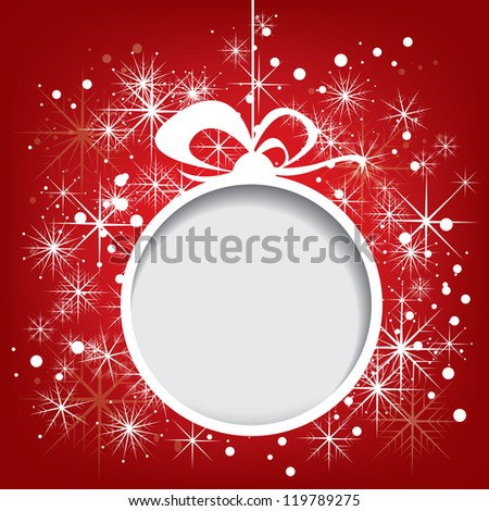 Abstract vector christmas background with snowflakes - stock vector