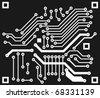 abstract vector circuit board - stock vector
