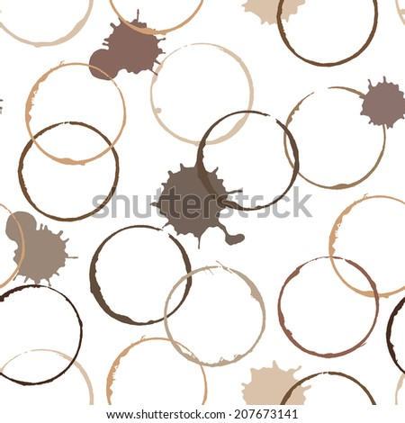 abstract vector coffee colors ink stains seamless wallpaper background pattern design