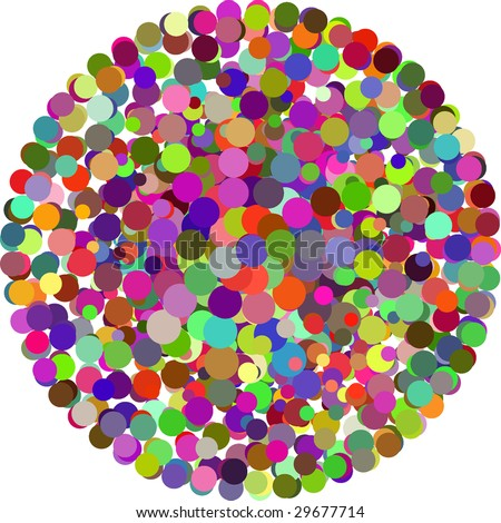 Abstract vector color Dot Background