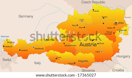 Austria Map Stock Images RoyaltyFree Images Vectors Shutterstock - Map of austria