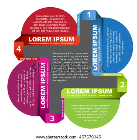 Abstract vector color scheme with four steps and palce for text - stock vector