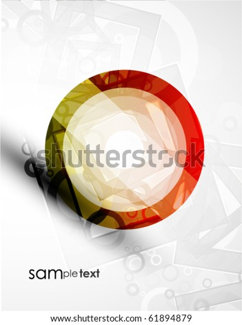 Abstract vector colorful design - stock vector