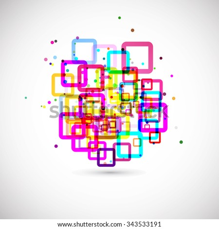 abstract vector colors background for your text with squares - stock vector