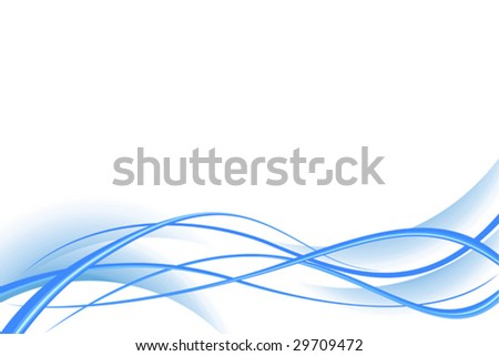 Abstract vector composition from wavy elements