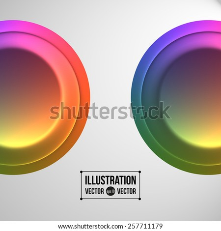 Abstract vector composition of colored circles - stock vector