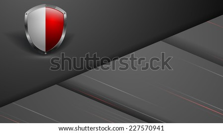 abstract vector corporate template with shield. Eps10